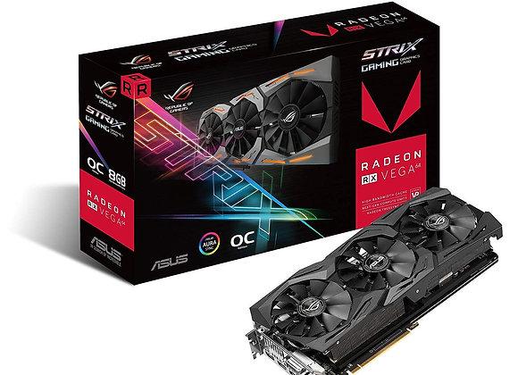 ASUS Radeon RX Vega 64 8GB Overclocked 2048-Bit HBM2 PCI Express 3.0 HDCP Ready