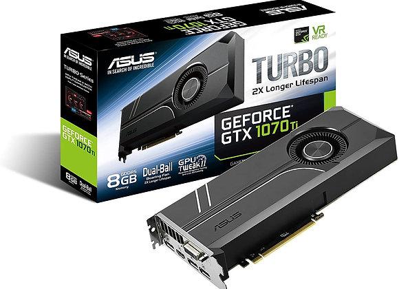 ASUS GeForce GTX 1070 TI 8GB GDDR5 Turbo Edition VR Ready DP HDMI DVI-D Graphics