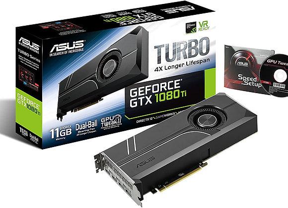 ASUS GeForce GTX 1080 TI 11GB Turbo Edition VR Ready 5K HD Gaming HDMI Display