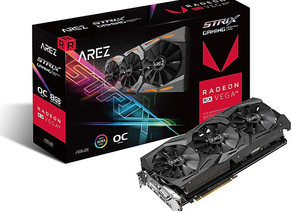 ASUS Arez Strix Radeon Rx Vega64 8GB OC Edition VR Ready 5K HD