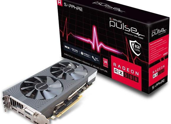 Sapphire Technology Radeon RX 580 Overclocked Pulse Dual-Fan 8GB GDDR5 PCIe 3.0