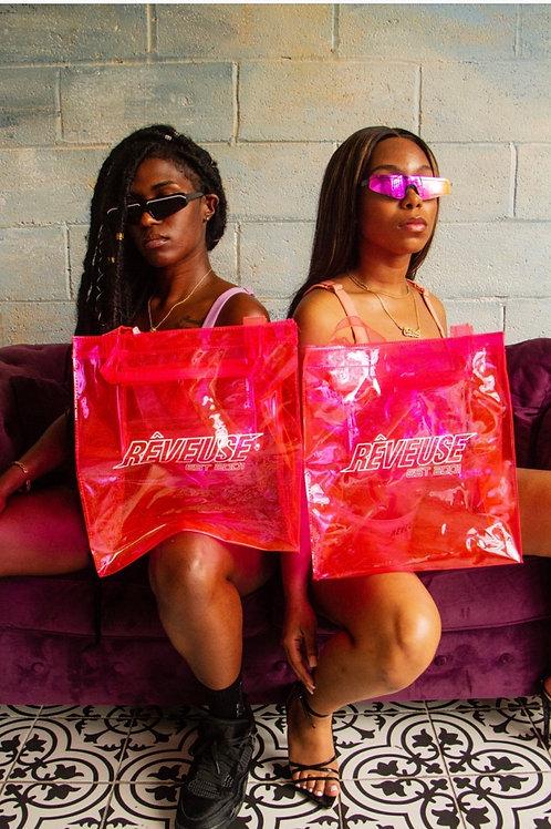 EST .2001 Pink Transparent Tote bag