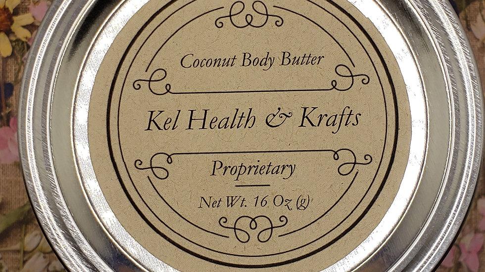 Coconut Body Butter 16 oz