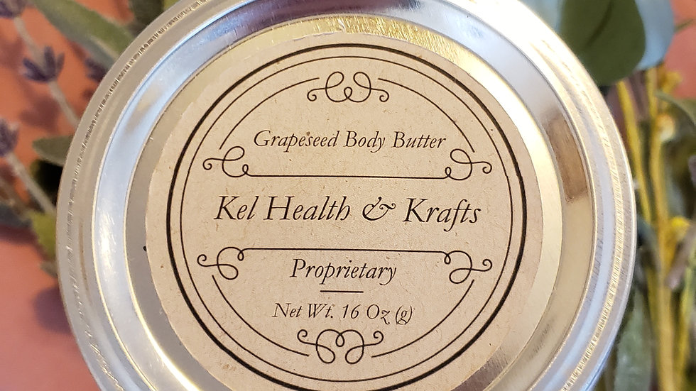 Grapeseed Body Butter 16 oz