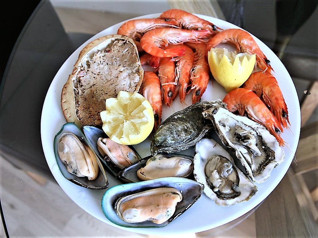 Locally caught fresh seafood