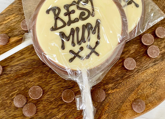 Best Mum Lollipop - Mothers Day Sweets - Small business mothers's day chocolates sweet shop