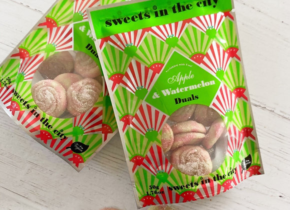 Apple & Watermelon vegan sweets sweet shop scotland Denise Brolly
