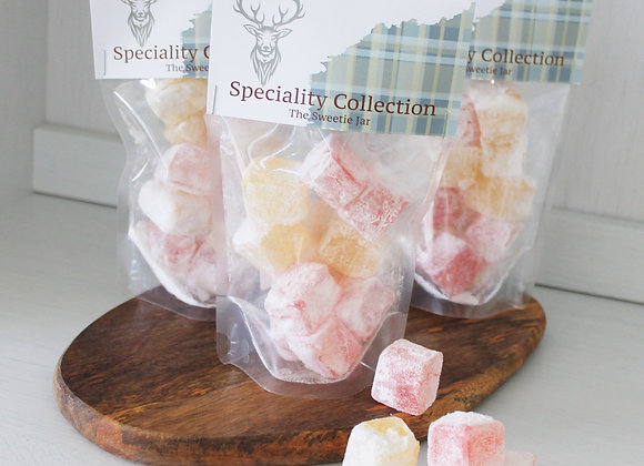 Turkish Delight Retro sweets, sweet shop Scotland, Denise Brolly sweetie pouch