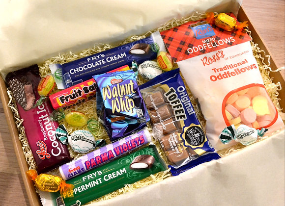 Old favourites sweetie letterbox hamper