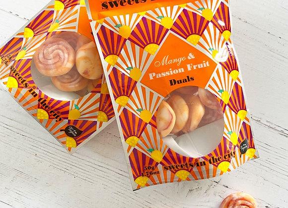 Mango & Passionfruit vegan sweets Sweet shop scotland Denise Brolly