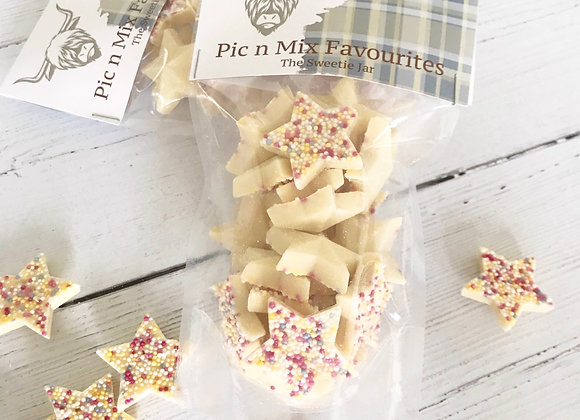 Christmas White Chocolate Stars Pouch