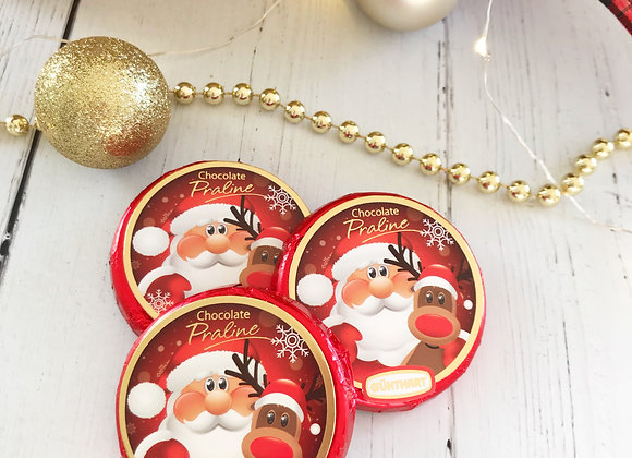 Santa Chocolate Disc  Christmas Stocking Filler Sweets