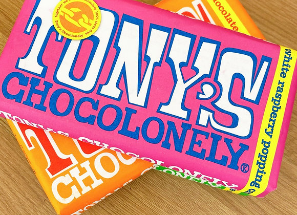 Tony's Chocolonely -White Raspberry Popping Candy Sweet shop scotland Denise Brolly