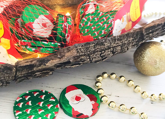 Belgian Chocolate Christmas Santa Coins Christmas Stocking Filler Sweets
