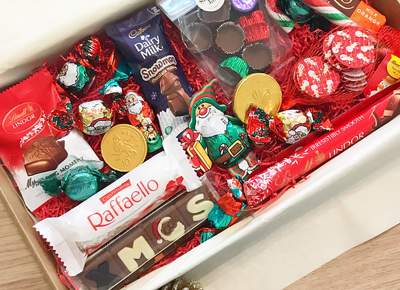 Christmas Chocolate Letterbox Sweetie Hamper - Confectionery