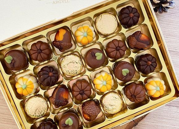 Large Autumnal Chocolate Box
