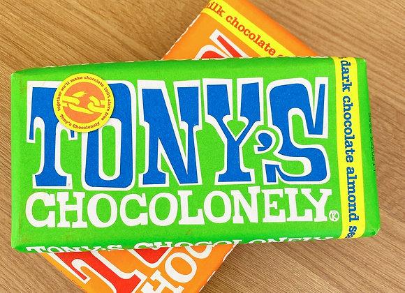 Tony's Chocolonely - Dark Chocolate Almond Sea Salt Sweet shop scotland Denise Brolly
