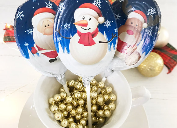 Milk Chocolate Foiled Christmas Lollipop Stocking Filler Sweets The Sweetie Jar