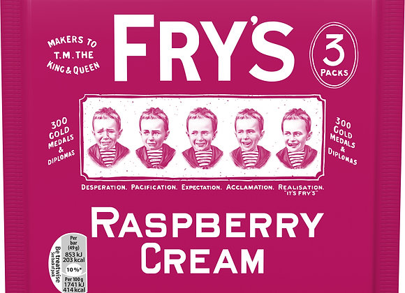 Fry's Raspberry Cream - 3 Pack Retro Sweets Chocolate