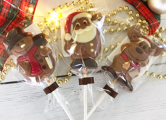 Christmas Chocolate Lollipop Stocking Filler Sweets