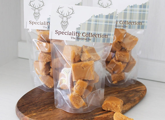 Clotted Cream Fudge Retro sweets, sweet shop Scotland, Denise Brolly sweetie pouch