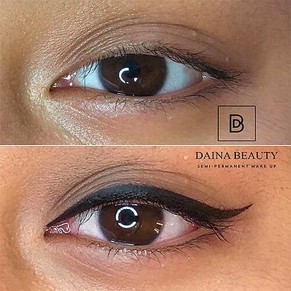 Eyeliner kestopigmentointi Daina Beauty