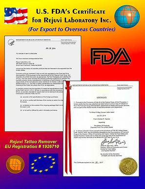 Rejuvi Tattoo Remover - sertifikaatti