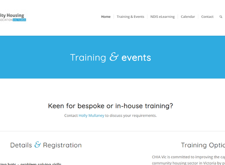 Online Housing Training Sessions