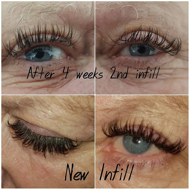So this lady has always been a regular lash client and she was struggling to last 2 weeks