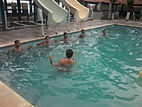 Natación para Todos se dearrolló en la Playa Conchalío. AGUAPES. Guardavidas de El Salvador.