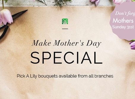 Don't forget Mother's Day!