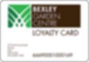 Bexley Garden Centre loyalty card