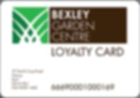Bexley Garden Centre loyalty card