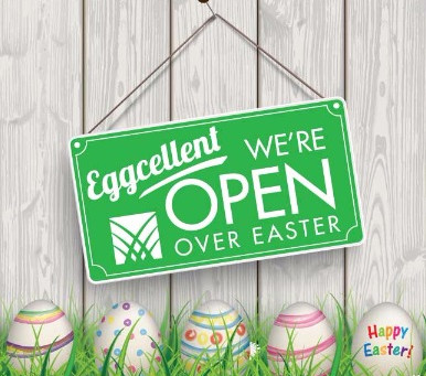 We're open over Easter 10am-4pm in all stores, for all your gardening needs!