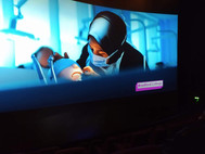The Bradford College campaign playing in IMAX
