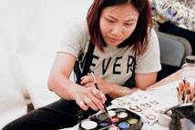 Bradford Festival face painting by Benjie Kusita