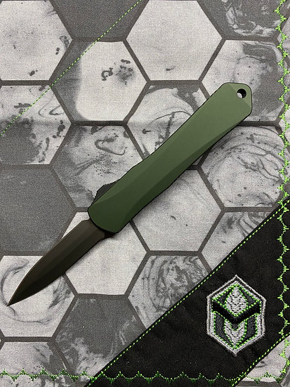Heretic Manticore S OTF Green D/E DLC Blade