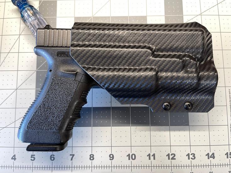 OWB Kydex Holster w/RTI Hanger-Glock 17/22 w/Streamlight TLR1-HL-Carbon Fiber