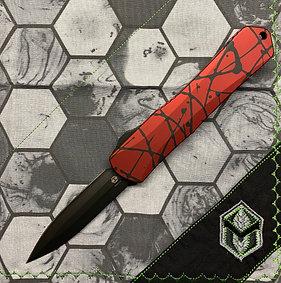 Heretic Manticore-X OTF Red w/Black Splash D/E DLC Blade S/N 016