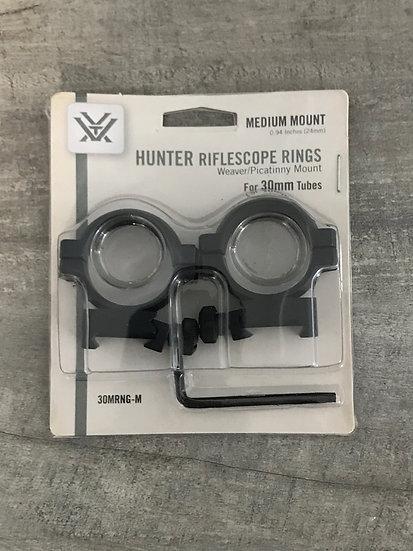 """Vortex Hunter 30mm Medium (.94"""") Rings"""