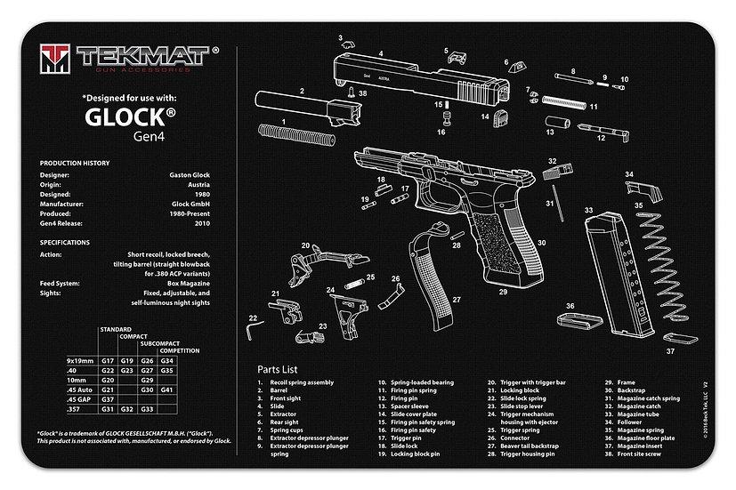 Glock® Gen4 TekMat Benchmat