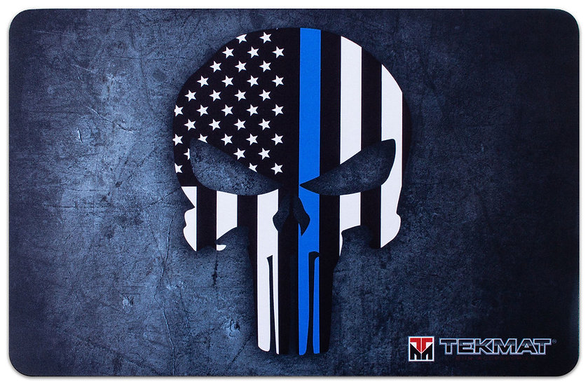 Thin Blue Line Punisher TekMat Benchmat