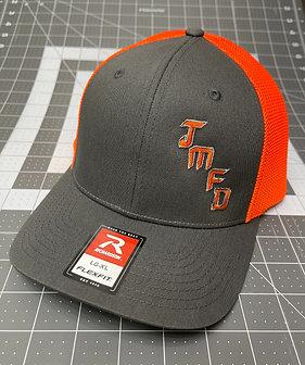 JMFD Customs L/XL FlexFit Cap - Charcoal/Neon Orange