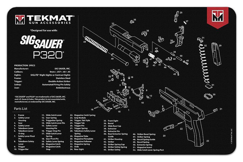 Sig Sauer® P320® TekMat Benchmat