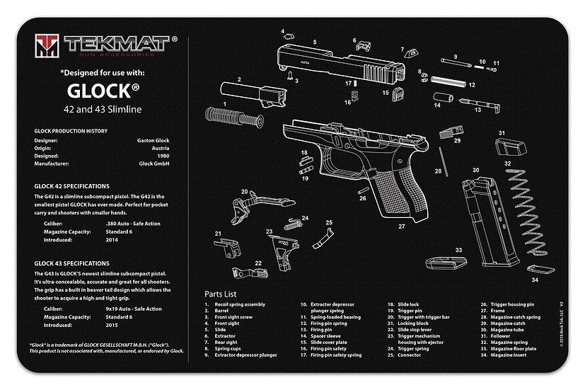 Glock® 42-43 TekMat Benchmat