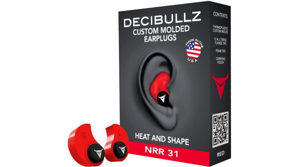 Decibullz Custom Molded Earplugs - Red