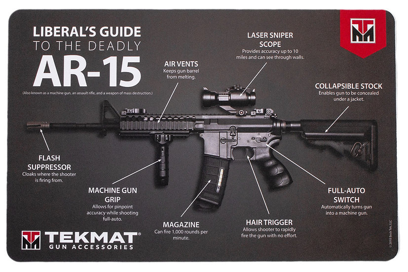 LIBERAL'S GUIDE TO THE DEADLY AR-15 TEKMAT BENCHMAT