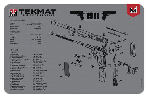 1911 Grey TekMat Benchmat