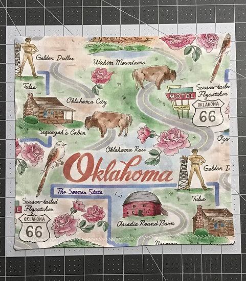 OKLAHOMA/ROUTE 66 CUSTOM HANK-REVERSIBLE