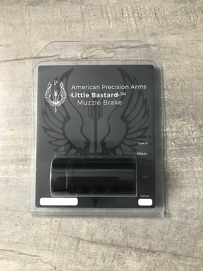 APA Gen 2 Little Bastard Muzzle Brake - 6.5 Black Nitride - 5/8-24